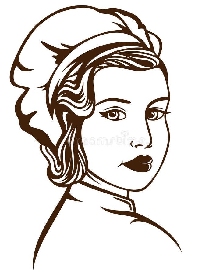 Mulher do padeiro ilustração royalty free