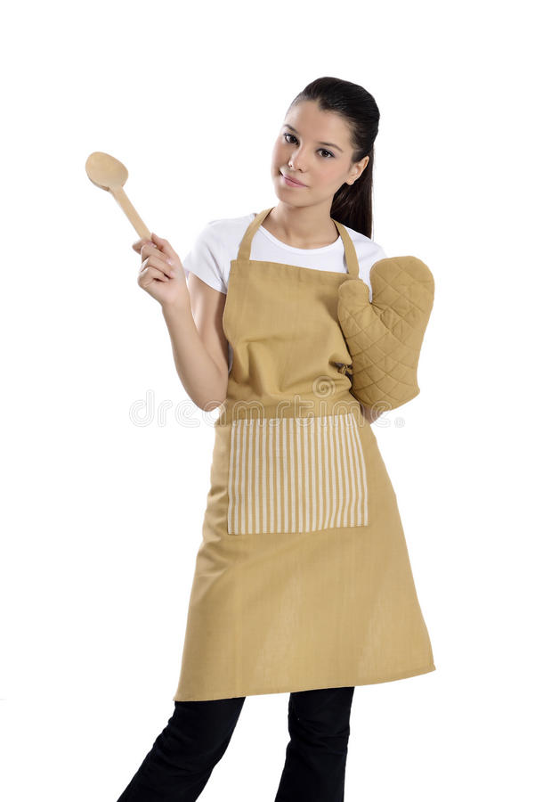 Mulher do padeiro/cozinheiro chefe foto de stock royalty free