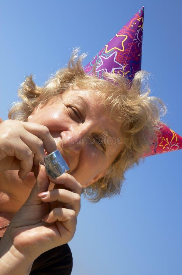 Mulher do partido birhtday fotos de stock royalty free