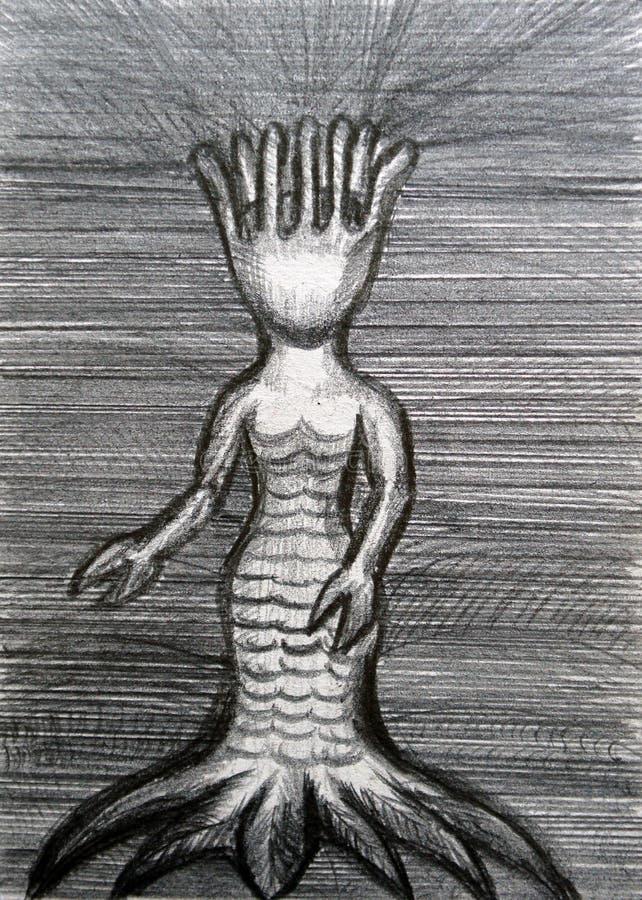 Mulher do polvo ilustração royalty free