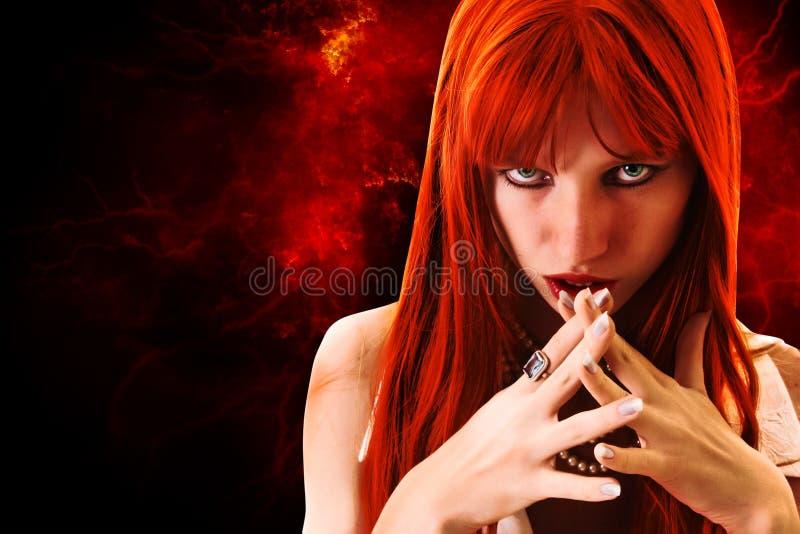 Mulher do Redhead fotografia de stock