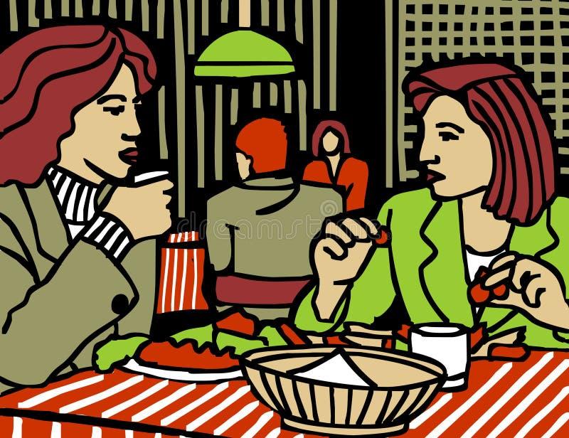 Mulher do restaurante ilustração do vetor