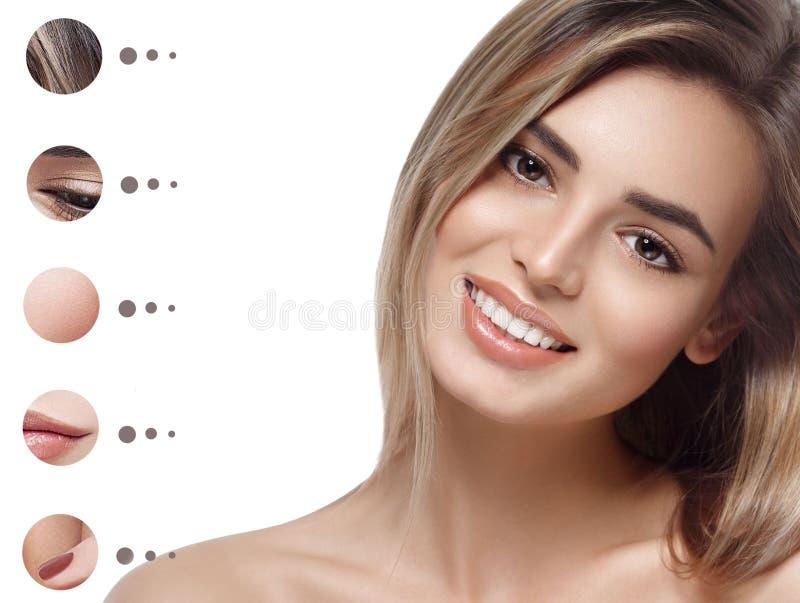 A mulher do retrato com problema e pele clara, juventude compõe o conceito imagem de stock royalty free