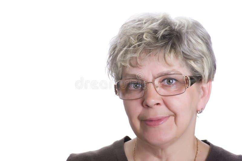 Mulher do retrato no branco fotos de stock royalty free