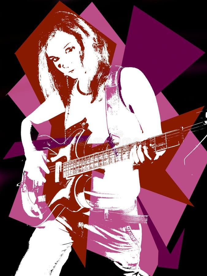 Mulher do rock and roll ilustração stock