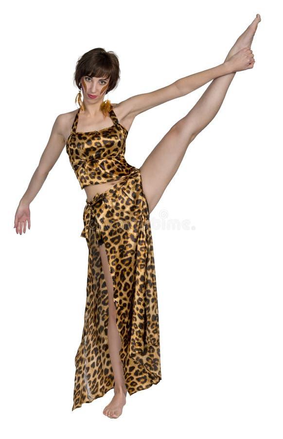 Mulher do russo como a dança oriental e a dança do ventre fotos de stock royalty free