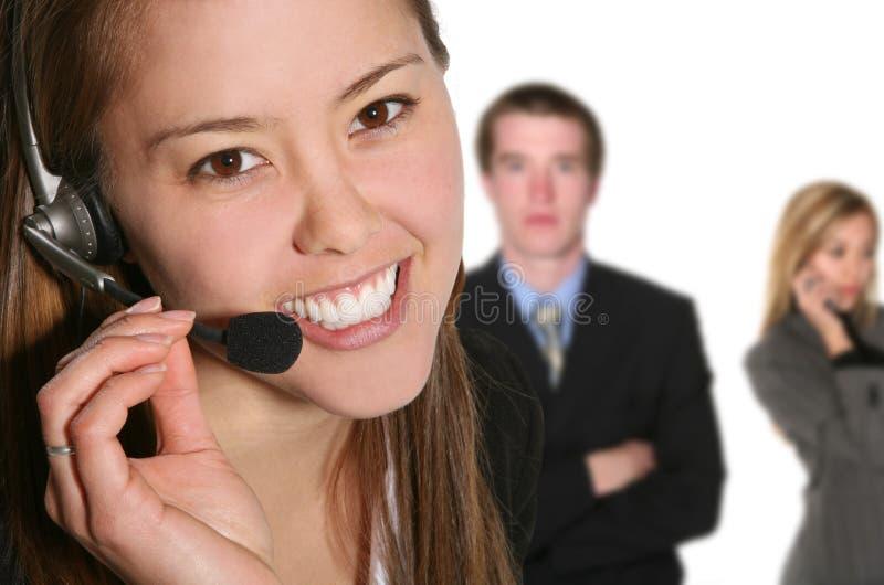 Mulher do serviço de atenção a o cliente imagem de stock