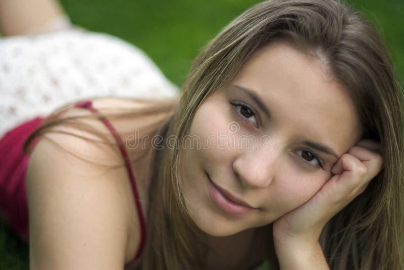 Mulher Do Sorriso Imagem de Stock