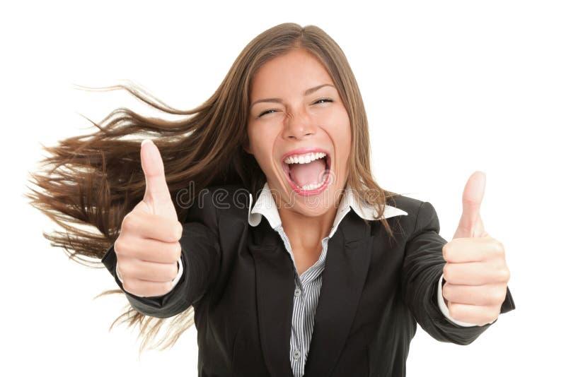 Mulher do sucesso isolada imagens de stock royalty free