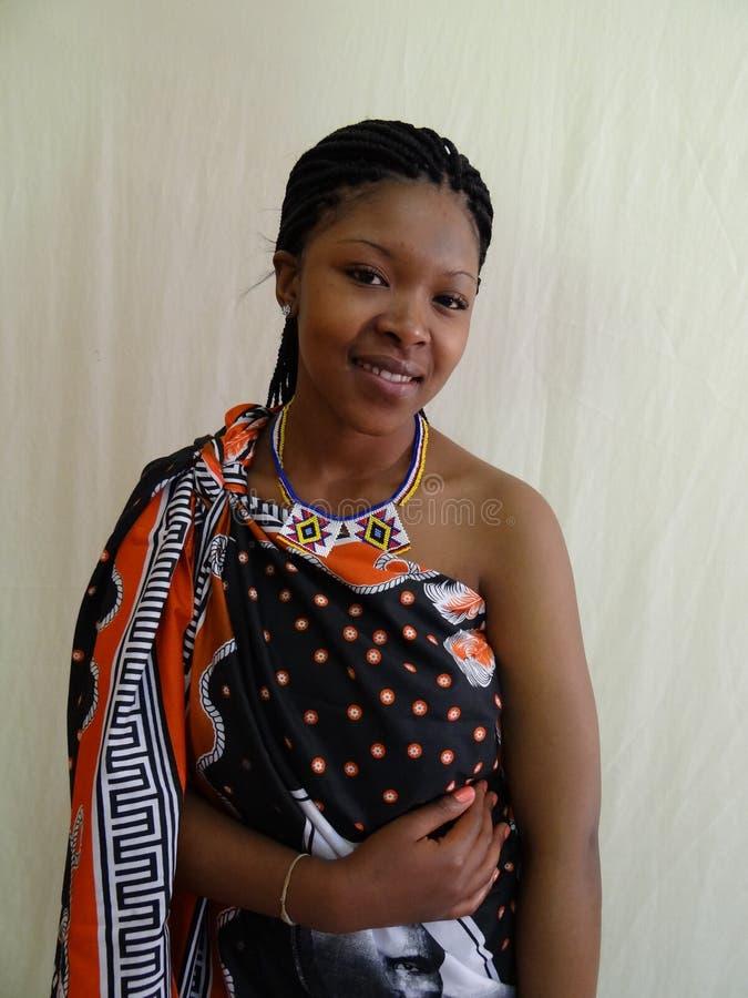 Mulher do Swazi fotografia de stock royalty free