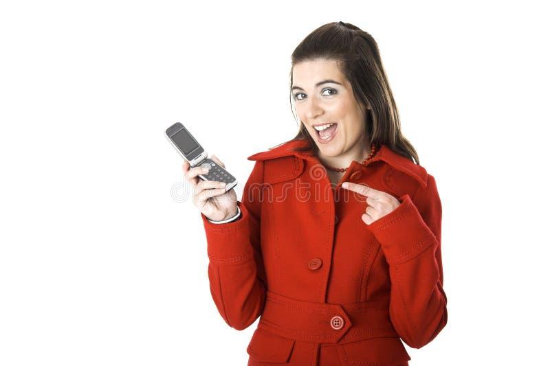 Mulher do telemóvel fotografia de stock royalty free