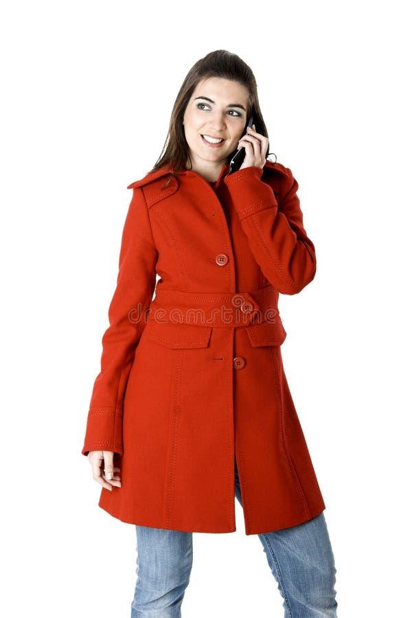 Mulher do telemóvel foto de stock royalty free