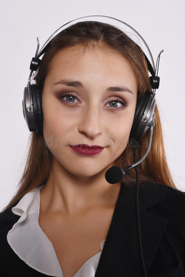 Mulher do Telemarketer foto de stock royalty free