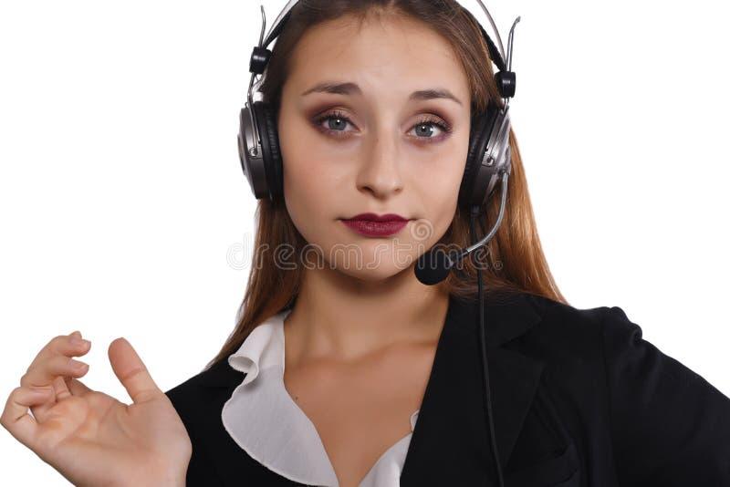 Mulher do Telemarketer imagem de stock royalty free