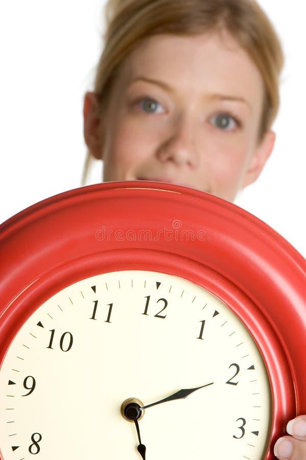 Mulher do tempo imagem de stock