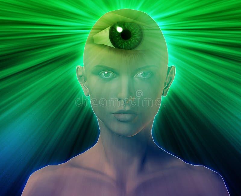 Mulher do terceiro olho ilustração do vetor