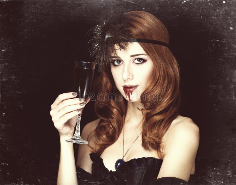 Mulher do vampiro fotografia de stock royalty free