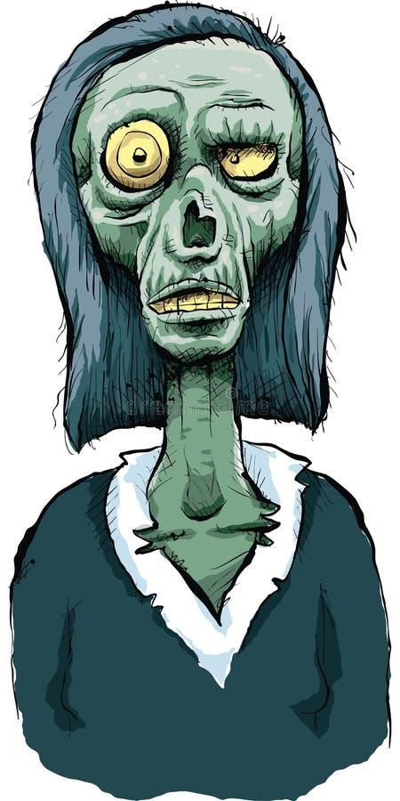 Mulher do zombi ilustração royalty free