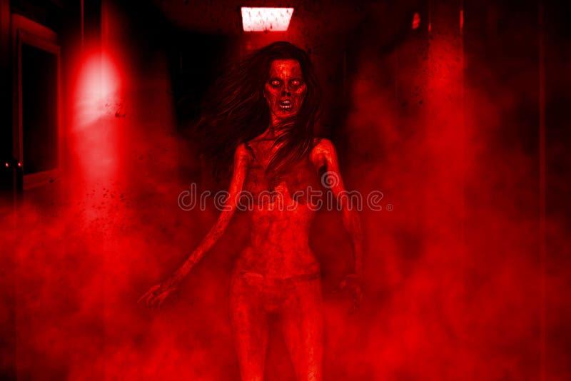 Mulher do zombi ilustração stock