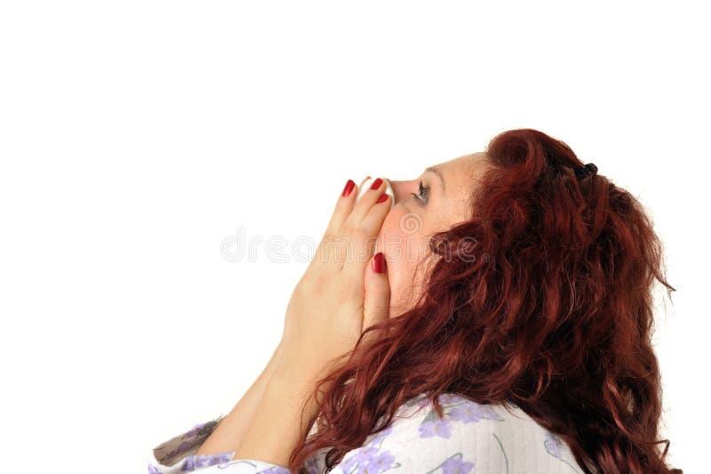 Mulher doente fotografia de stock
