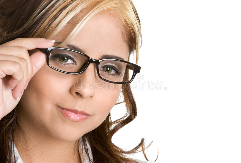 Mulher dos Eyeglasses fotos de stock