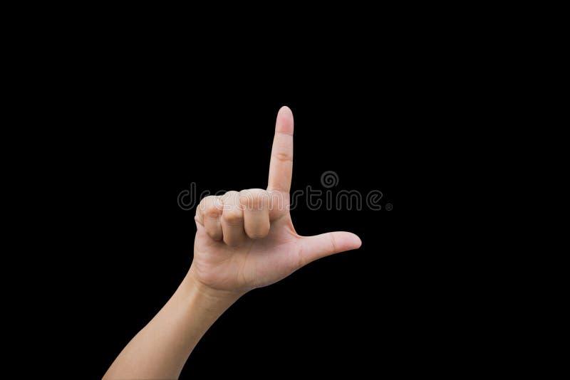 Mulher dos gestos de mão fotos de stock royalty free