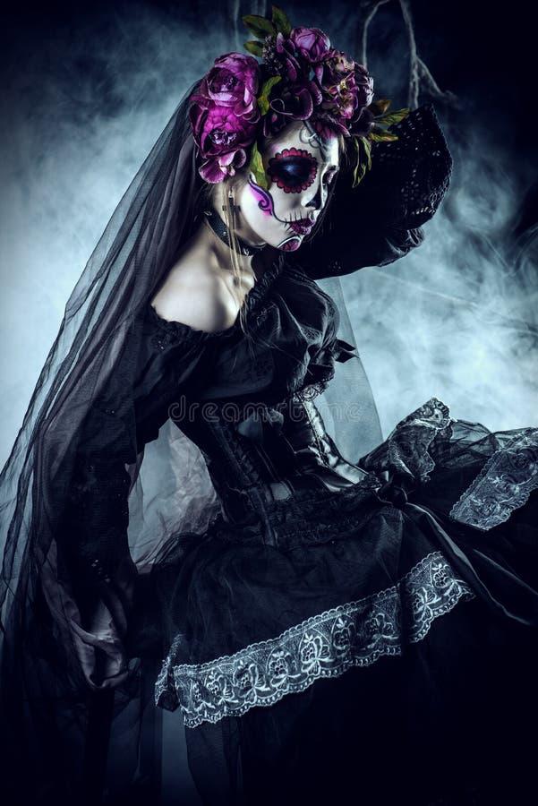 Mulher dos muertos do vintage foto de stock royalty free