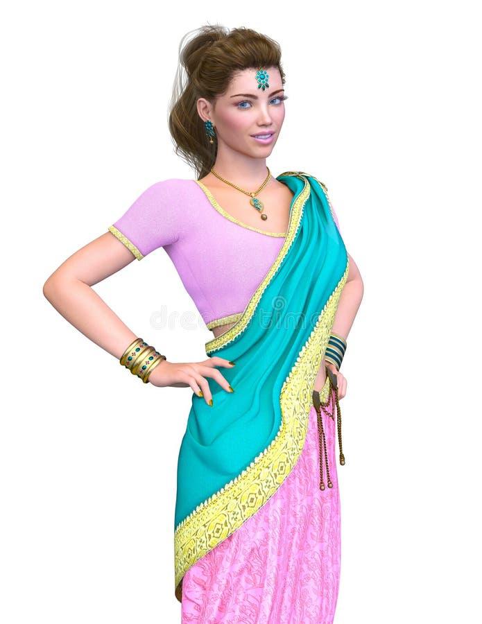 Mulher dos trajes étnicos imagem de stock