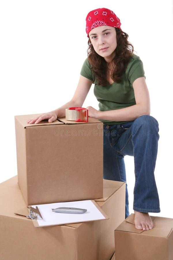 Mulher e carga foto de stock