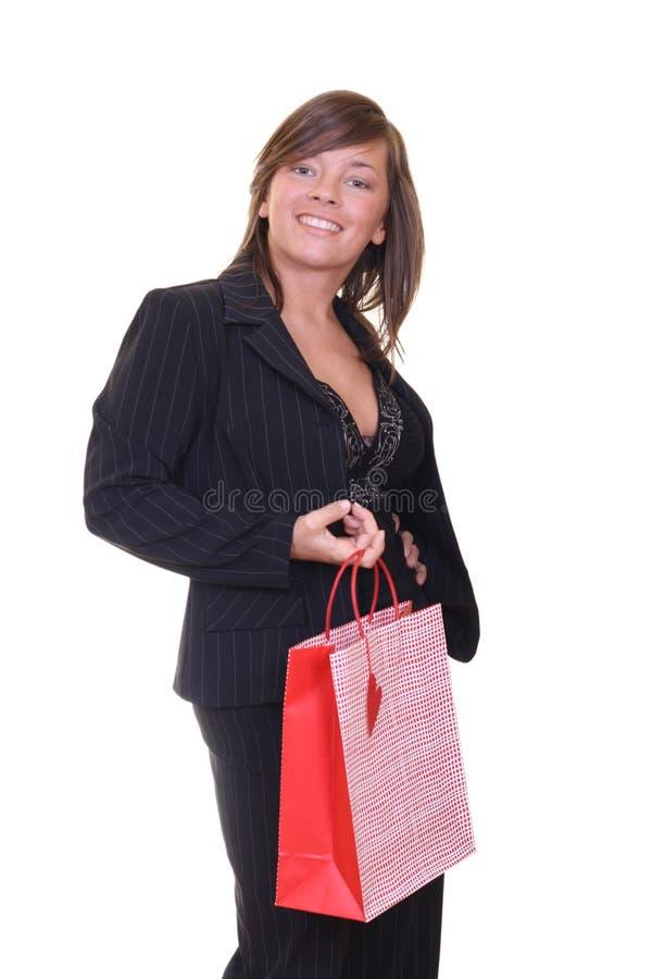 Mulher e compra imagem de stock