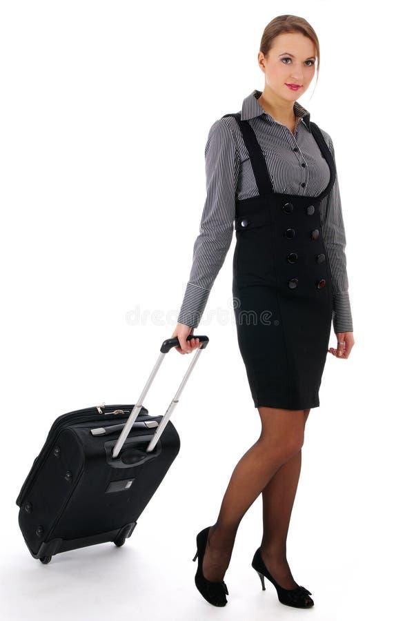 Mulher e curso de negócio, mulher e trave do negócio imagem de stock