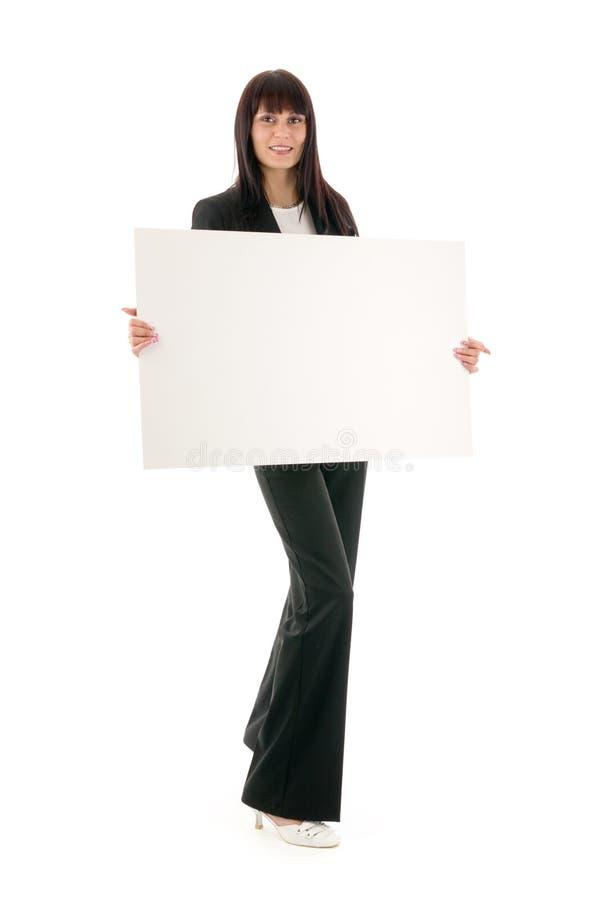 Mulher e espaço em branco fotos de stock royalty free
