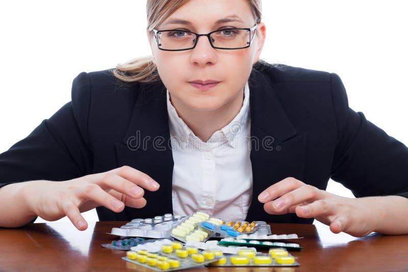 Download Mulher e fármacos foto de stock. Imagem de conceito, medication - 26521370