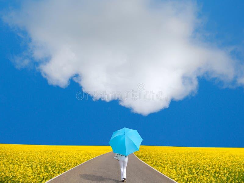 Mulher e guarda-chuva imagens de stock royalty free