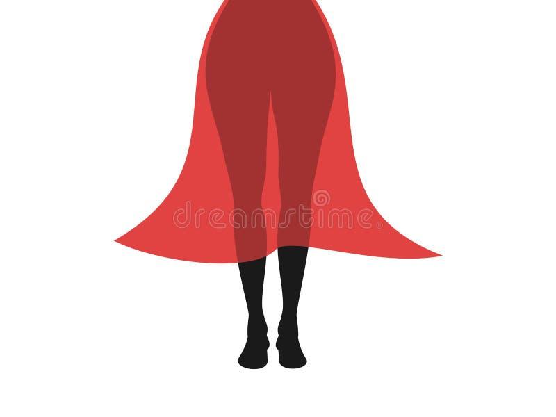 a mulher e a menina atrativas vestem o vestido e a saia semi transparentes do verão ilustração do vetor