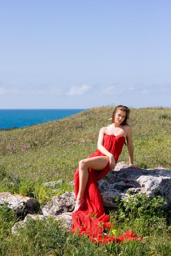 Mulher e natureza foto de stock royalty free