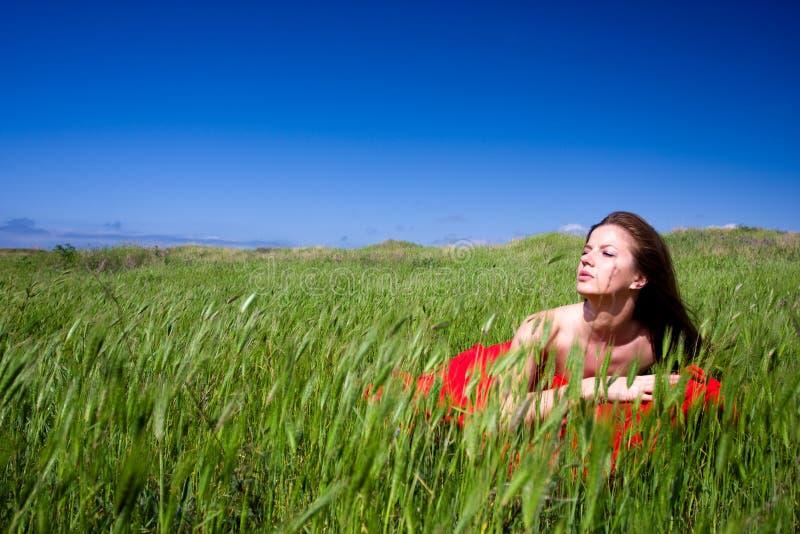 Mulher e natureza foto de stock