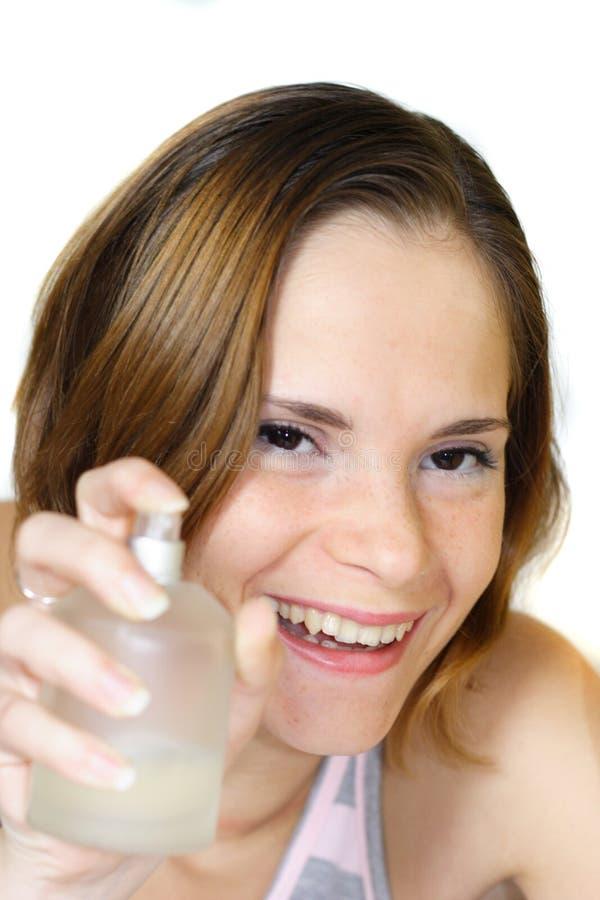 Mulher e perfume fotografia de stock royalty free