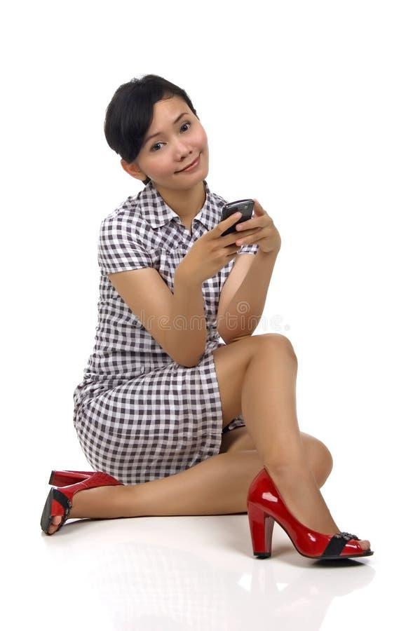 Download Mulher e telefone foto de stock. Imagem de atendimento - 12805716
