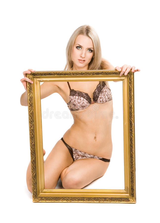 Mulher elegante foto de stock
