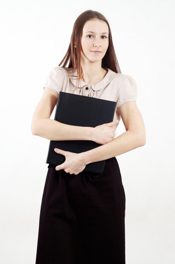 Download Mulher Elegante Com Caderno Imagem de Stock - Imagem de cute, pessoa: 12813325