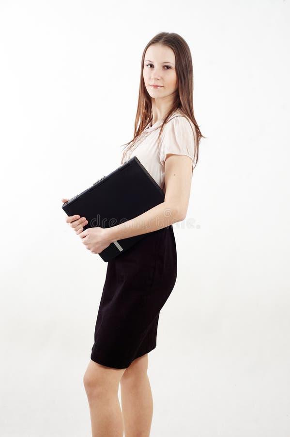 Download Mulher Elegante Com Caderno Imagem de Stock - Imagem de confiável, cuidado: 12813343