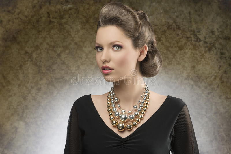 Mulher elegante da forma foto de stock royalty free