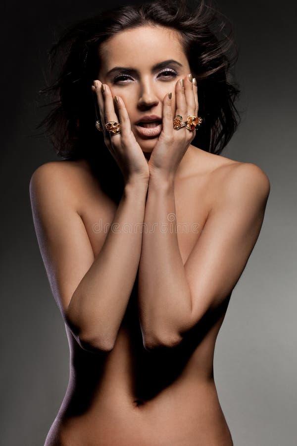 Mulher elegante elegante imagem de stock royalty free