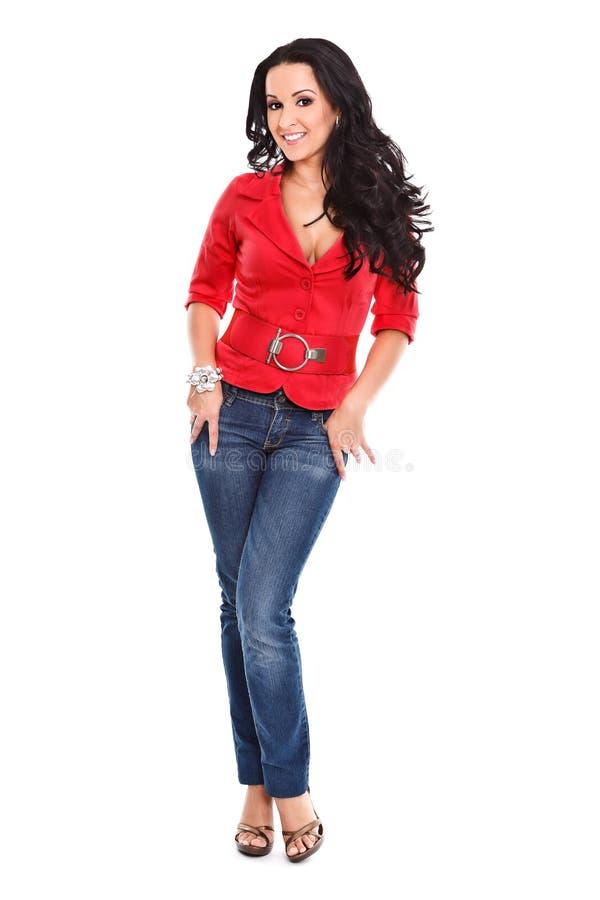 Mulher elegante que levanta à câmera foto de stock royalty free