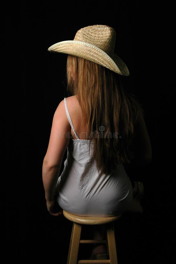 Mulher Em Dress-7 Branco Fotografia de Stock