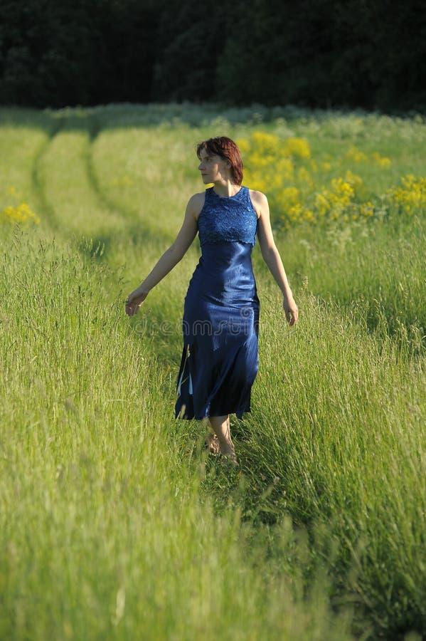 Download Mulher em um campo imagem de stock. Imagem de chiffon - 26509103