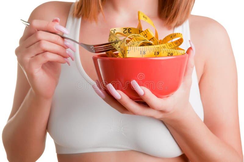 Mulher em uma dieta imagens de stock