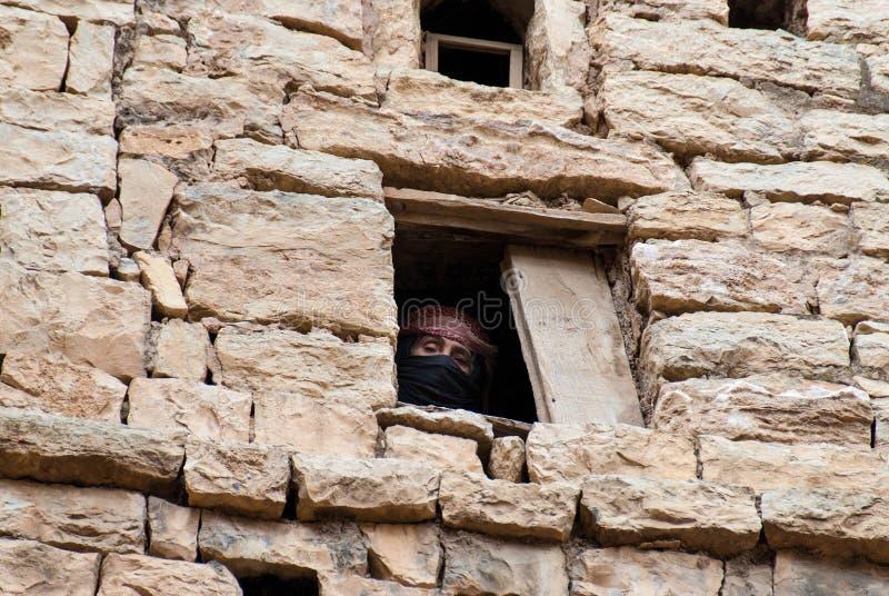 Mulher em Yemen fotografia de stock