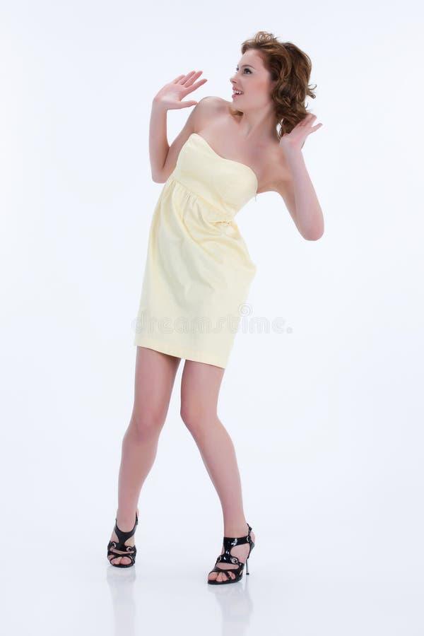 Mulher emocional nova imagem de stock royalty free